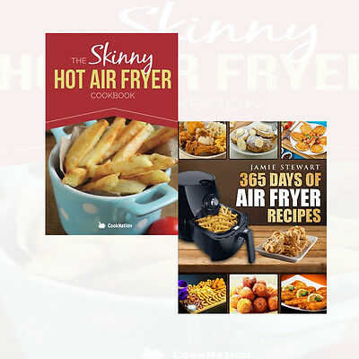 Skinny Hot Air Fryer 2 Books Collection Set 365 Days of Air Fryer Recipes New