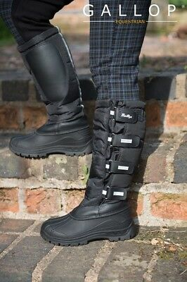 Gallop Alpine Thermo Tall Yard Riding/Stable Snow Mucker Boots NEW