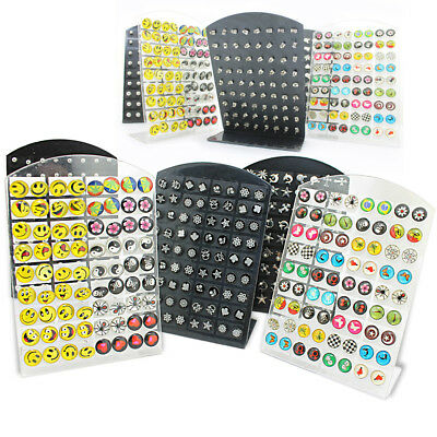 144 x OHRRINGE 2 DISPLAY STANDS EARRINGS VERSCHIEDENE DESIGNS Großhandel