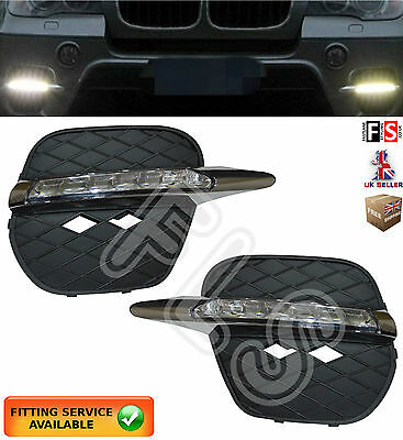 Bmw X5 Led Drl Day Time Running Light Lamps 2011-2013 Drl Lights Kits