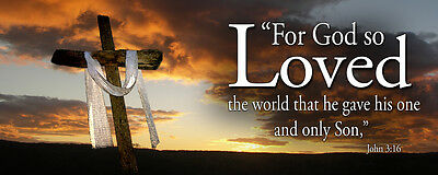 """Inspirational Christian Banners for Home or Church 24"""" x 60"""" (HG2115-1)"""