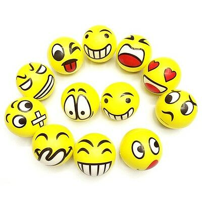 Emoji Stress Ball Mood Squish Squeeze Emotional Strength Relief Kid Toy Balls