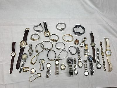Vintage Watch Lot Of 37 Working & For Parts