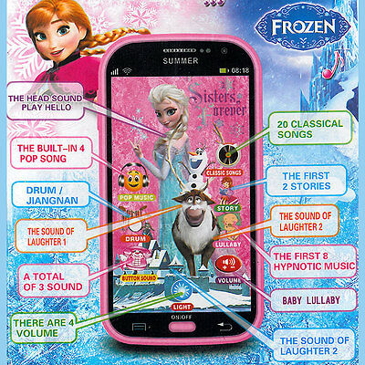 Eiskönigin Frozen SmartPhone Handy Spielzeug Touch Screen Sound Musik