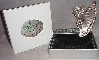 Towle 2001 Sterling Silver 2nd in Music Series Harp Christmas Tree Ornament
