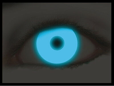 Lenti A Contatto Cosplay Contact Lenses Blue Blu Fluo Halloween Carnevale #1