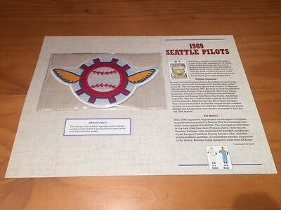 Vintage Cooperstown Collection Baseball Patch 1969 Seattle Pilots