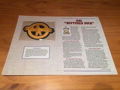 """Vintage Cooperstown Collection Baseball Patch 1945 """"Rupted Duck"""""""