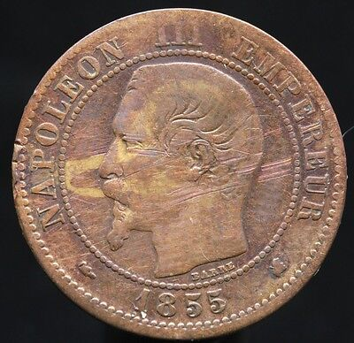 #d55 - France - 2 Centimes Napoleon Iii 1855 K