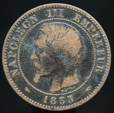 #d53 - France - 2 Centimes Napoleon Iii 1853 A