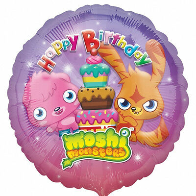 """Pack of 5 Moshi Monsters Happy Birthday 18"""" Foil Helium Balloons - Party Balloon"""