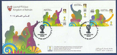 Bahrain 2014 Mnh Fdc Fifa World Cup Brazil Football Soccer Sports Games
