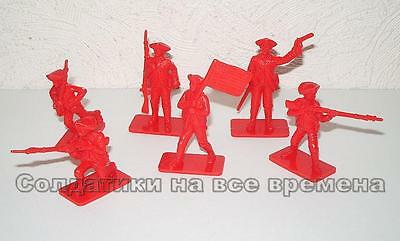 NEW!!! Plastic toy soldiers 1/32 American Revolution infantry set A