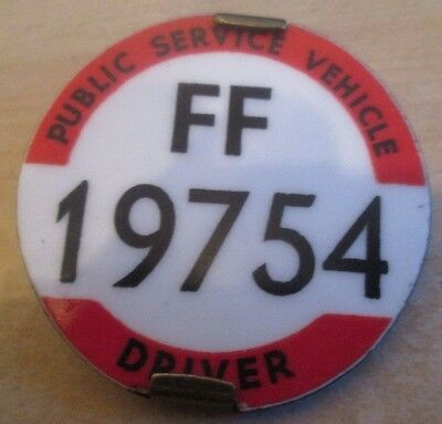 Vintage Bus Drivers Badge Ff19754 Eastern Areas Issued From Cambridge Office