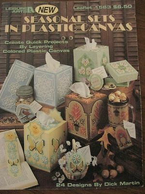 PLASTIC CANVAS patterns tissue box cover bookmark mug snowflake owl butterfly