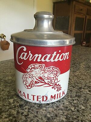 Vintage Soda Fountain Carnation Malted Milk Container