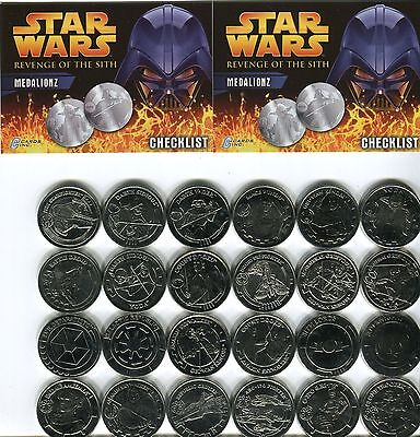 STAR WARS Revenge of the Sith Medalionz Coin Set Silver 24 Medallions LIMITED