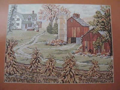 NEEDLEPOINT or CROSS STITCH patterns four seasons barn cottage country house