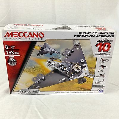 Meccano Maker System Real Metal Flight Adventure Kit New In Box