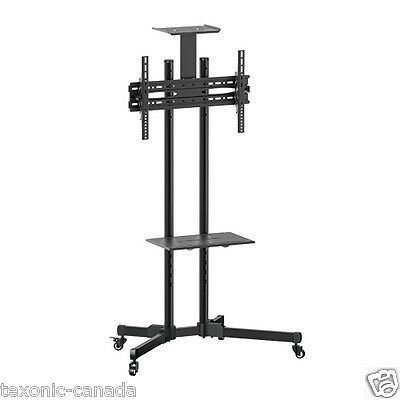 """TV Cart for LCD LED Plasma Flat Panel Mobile Stand w/wheels,Tray fits 37"""" to 65"""""""