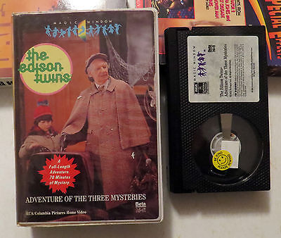 BETA/Betamax:The Edison Twins: Adventure of The Three Mysteries: 1987 Clamshell