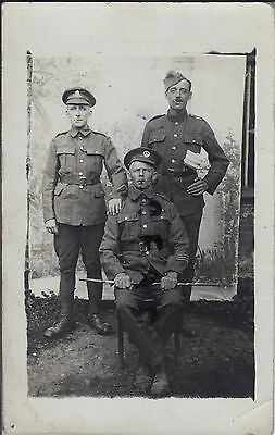WW1 soldier group SWB South Wales Borderers Royal Artillery in France