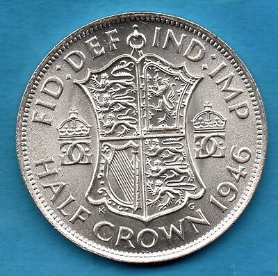 1946 King George Vi Halfcrown Silver Coin. Half Crown.  Beautiful Condition.