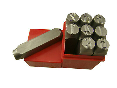 "1/2"" 12.5MM 9 Number Punch Stamp Set Metal-Steel-Die-Serial#-Trailer-Tool"