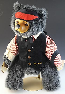 VTG Signed Numbered LE Robert Raikes Max 5460 Wood Face Collectible Teddy Bear