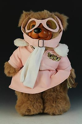 VTG Signed Numbered LE Robert Raikes Amelia Wood Face Collectible Teddy Bear