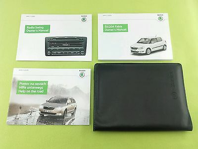 Skoda Fabia Owners Manual / Handbook + Audio Guide + Wallet - (2010 - 2014)