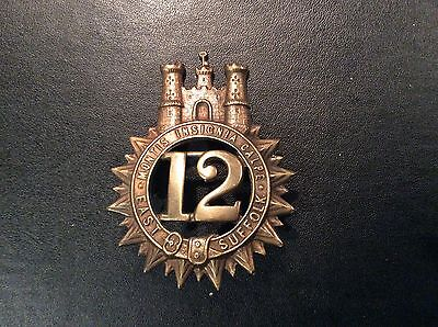 East Suffolk 12th of Foot Glengarry Badge Victorian