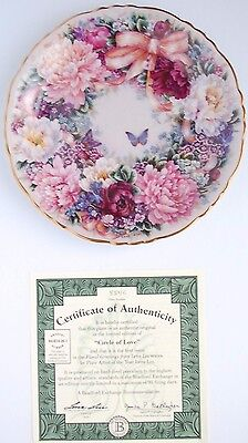 Limited Edition 'Circle of Love' Lena Liu First Issue Collector's Plate