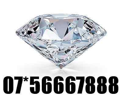 Exclusive Rare Gold Easy Vip Mobile Phone Number Sim Card ( 07*56667888 )