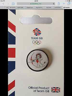New Official Team Gb Rio 2016 Olympic Pin Badge - Pride Archery Limited Edition