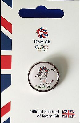 New Official Team Gb Rio 2016 Olympic Pin Badge - Pride Golf - Limited Edition