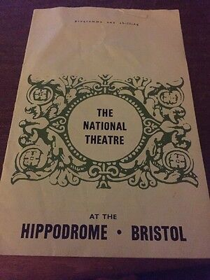 National Theatre Programme From Early 1970s At Hippodrome Bristol