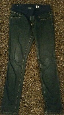 Dark blue under the bump maternity jeans size 12