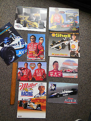 Vtg Indy Booby Rahal Miller Racing Info Card & Many other Drivers Photo Lot