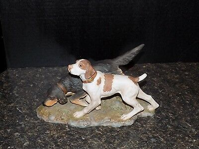 1990 HOMCO Brittany/Setter Dog Figurine THE HUNTERS  Masterpiece Porcelain