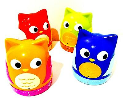 Judge OWLS  Kitchen Timer 60 Min Choice Of Colour Red,green,blue Or Orange