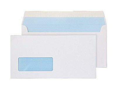Purely Everyday DL 110x220mm Peel and Seal Window Wallet - White (Pack of 50)