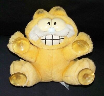 "VINTAGE 1980's Garfield the Cat ""Stuck on You"" SUCTION CUP PAWS for CAR WINDOW"