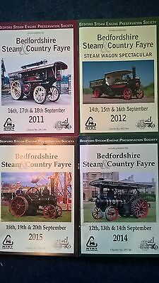 4 Rally programmes Bedfordshire Steam Engine Preservation Country Fayre vintage