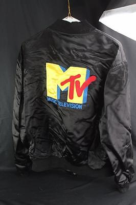 VINTAGE MTV EMBROIDERED Satin Bomber Jacket Men's XL by Creative Custom  Products