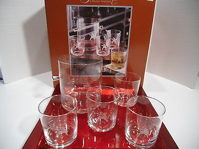 A Holiday Tradition Gorham Reindeer Mixed Drink 6 Piece Set