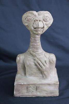 Rare Vintage 1982 E.T. Extra Terrestrial Bust Sculpture Signed G.E. Harrison 9""
