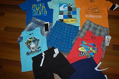 NWT Boys 3T QUIKSILVER HUGE 10pc Lot Shorts & Shirts AWESOME ~ L@@K! 5 Sets