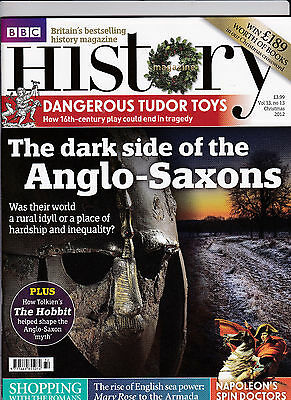 BBC HISTORY Magazine Christmas 2012 - THE DARK SIDE OF THE ANGLO-SAXONS Cover