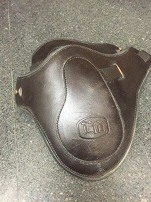 Neoprene Lined Leather BEVAL Hind Fetlock Jumping Boots~Stud Closure~Sz 3